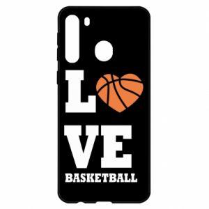 Etui na Samsung A21 I love basketball