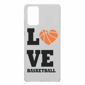 Samsung Note 20 Case I love basketball