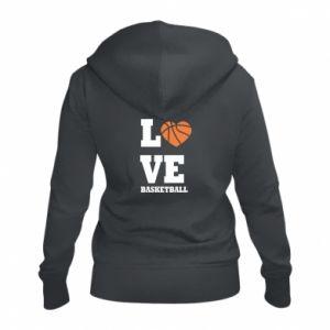 Damska bluza na zamek I love basketball - PrintSalon