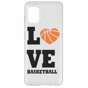 Etui na Samsung A31 I love basketball