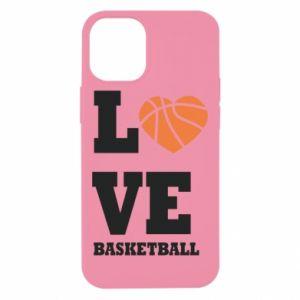 Etui na iPhone 12 Mini I love basketball