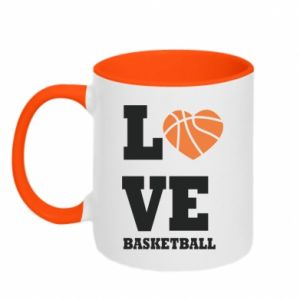 Kubek dwukolorowy I love basketball