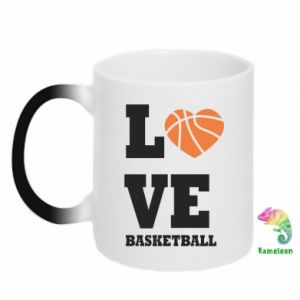 Kubek-kameleon I love basketball