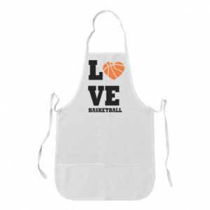 Apron I love basketball