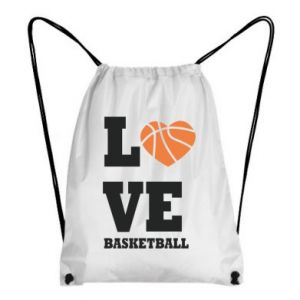 Backpack-bag I love basketball