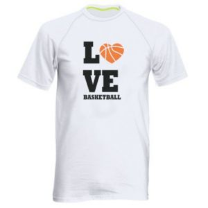Men's sports t-shirt I love basketball