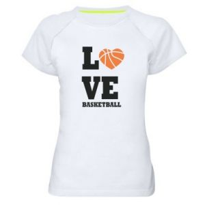 Women's sports t-shirt I love basketball
