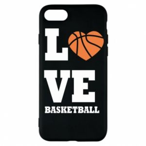 Etui na iPhone 7 I love basketball