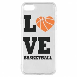 iPhone 8 Case I love basketball