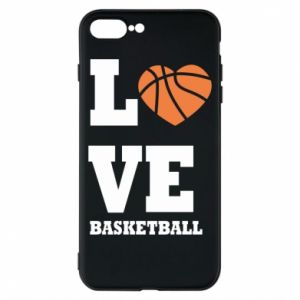 iPhone 8 Plus Case I love basketball