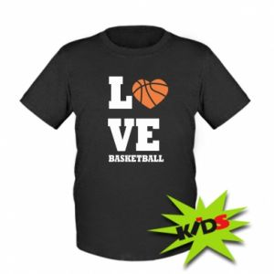 Kids T-shirt I love basketball