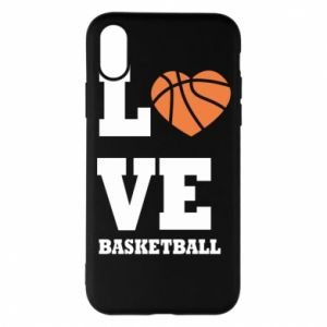 iPhone X/Xs Case I love basketball