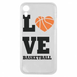 iPhone XR Case I love basketball