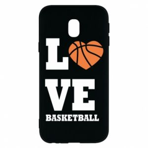 Samsung J3 2017 Case I love basketball