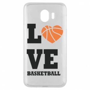 Samsung J4 Case I love basketball