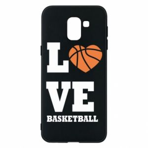 Samsung J6 Case I love basketball