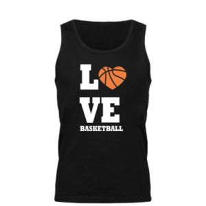 Męska koszulka I love basketball - PrintSalon