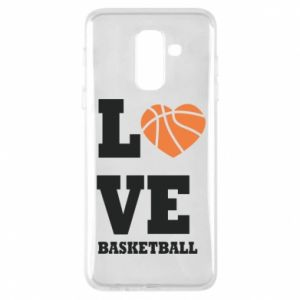 Samsung A6+ 2018 Case I love basketball