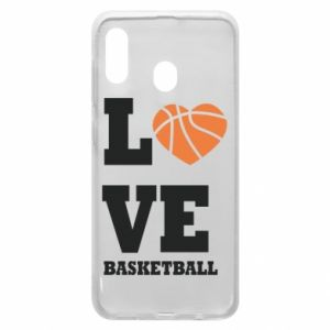 Samsung A20 Case I love basketball