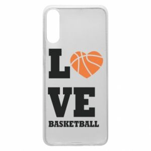Etui na Samsung A70 I love basketball