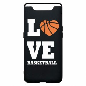 Samsung A80 Case I love basketball