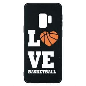 Samsung S9 Case I love basketball