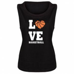 Damska koszulka I love basketball