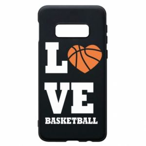 Samsung S10e Case I love basketball