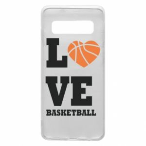 Samsung S10 Case I love basketball