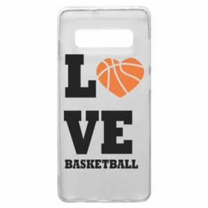 Samsung S10+ Case I love basketball