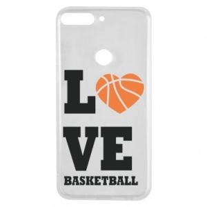 Huawei Y7 Prime 2018 Case I love basketball
