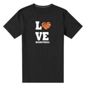 Męska premium koszulka I love basketball - PrintSalon