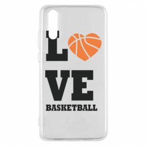 Huawei P20 Case I love basketball