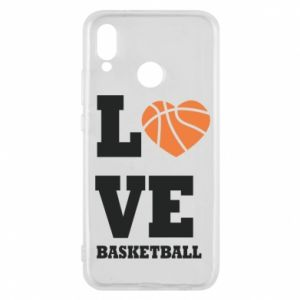 Huawei P20 Lite Case I love basketball