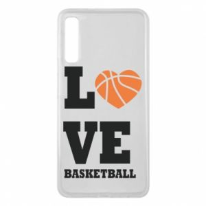 Samsung A7 2018 Case I love basketball