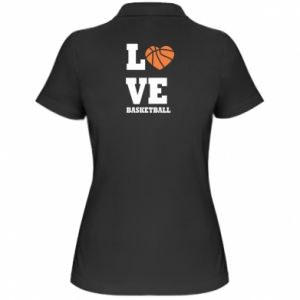 Women's Polo shirt I love basketball