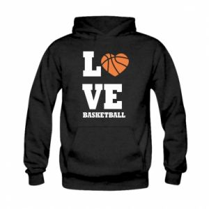 Kid's hoodie I love basketball