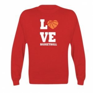 Kid's sweatshirt I love basketball