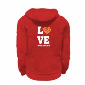 Kid's zipped hoodie % print% I love basketball
