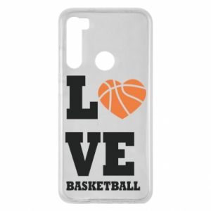 Xiaomi Redmi Note 8 Case I love basketball