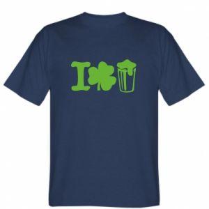 T-shirt I love beer St.Patrick 's Day - PrintSalon