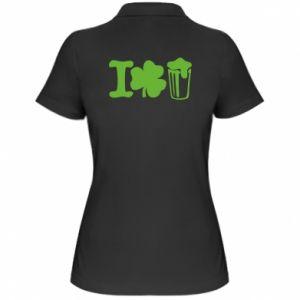 Women's Polo shirt I love beer St.Patrick 's Day - PrintSalon