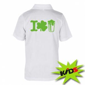 Children's Polo shirts I love beer St.Patrick 's Day - PrintSalon