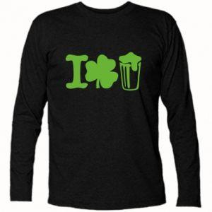 Long Sleeve T-shirt I love beer St.Patrick 's Day - PrintSalon