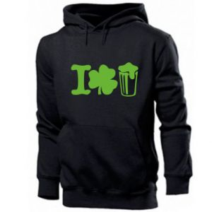 Men's hoodie I love beer St.Patrick 's Day - PrintSalon