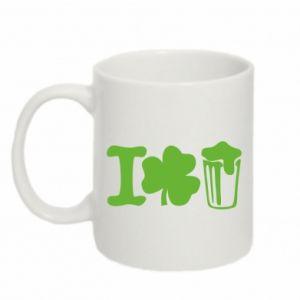 Mug 330ml I love beer St.Patrick 's Day - PrintSalon