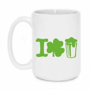 Mug 450ml I love beer St.Patrick 's Day - PrintSalon