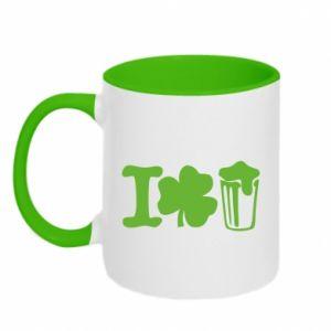 Two-toned mug I love beer St.Patrick 's Day - PrintSalon