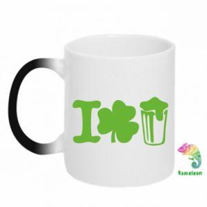 Chameleon mugs I love beer St.Patrick 's Day - PrintSalon