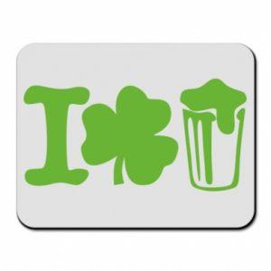 Mouse pad I love beer St.Patrick 's Day - PrintSalon